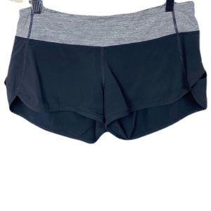 Lululemon Speed Shorts Size 6 Black Wee Space